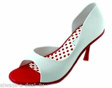 Melissa Grendene Spice Red & White Brazilian Women's Shoes Size 7