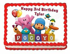 POCOYO party edible cake image decoration party cake topper frosting