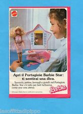 TOP989-PUBBLICITA'/ADVERTISING-1989- MATTEL- IL PORTAGIOIE BARBIE STAR