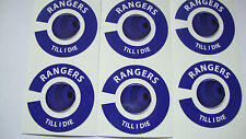 NEW RANGERS 16 CROWN GREEN BOWLS STICKERS LAWN & INDOOR BOWLS 8 FINGER + 8THUMB