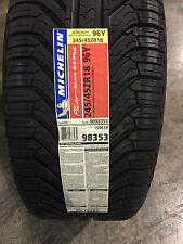 2 New 245 45 18 Michelin Pilot Sport A/S Plus Tires