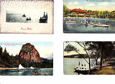 Lot Vintage Postcards ~ Boats Columbia River & Lincoln Park & Tugboats