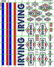 4022 DAVE'S DECALS GAS/OIL SET IRVING GAS OIL CANOPY TRIM AND ASSORTED SIGNS