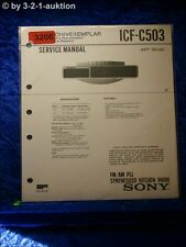 Sony Service Manual ICF C503 PLL Synthesized Kitchen Radio (#3206)