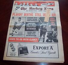The Hockey News Bobby Hull 600 goals / Marcel Dionne April 71972