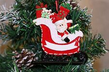 Personalised Christmas Tree Ornament Decoration - Santa Claus Sleigh with Gifts
