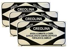 3 x Jabon Neutro CREOLINA SOAP fights dandruff Special Effect lice strengthens