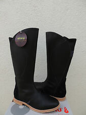 AHNU HELENA TALL BLACK WATER-PROOF LEATHER BOOTS, US 8/ EUR 39 ~NEW