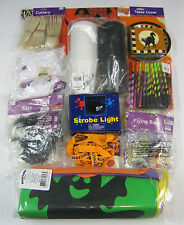 Halloween Party Complete Kit Set:Strobe Light,Plates,Cups,Tattoos,Bags MORE NEW