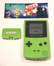 NINTENDO GAME BOY COLOR LIME GREEN CONSOLE GAMEBOY COLOUR SYSTEM TESTED RARE!