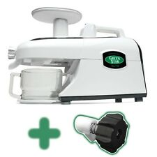 New 220 volt Tribest Green Star Elite Juicer GSE-5300 w/ Pasta Kit & Soft Fruit