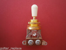 Selector Toggle Gold Tip Crema Switch Interruptor 3 Posiciones Guitarra Epiphone