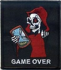 GAME OVER With REAPER GRIM Funny Halloween Biker MC Club NEW Vest Patch PAT-0683