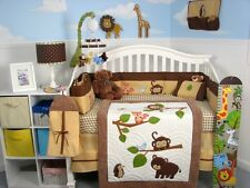 SoHo Forest Playground Baby Crib Nursery Bedding Set 13 pcs included Diaper Bag