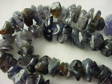 """16"""" Strand Natural Iolite Chip Stone Beads 5-15mm Wide #A503 DNG"""