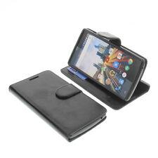 Tasche für Archos 50D Helium Smartphone Schutzhülle BookStyle Buch Mappe Schwarz