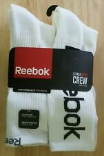 REEBOK 5 PACK MEN'S CREW SOCKS - SHOE SIZE 6- 12.5 - COLORS WHITE AND BLACK -NWT