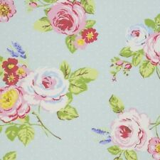Clarke and Clarke English Rose Seafoam Design Upholstery Curtain Craft Fabric