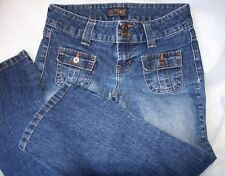 l.e.i. Junior's Cropped Everyday Denim Jeans Cotton blend US Size 3
