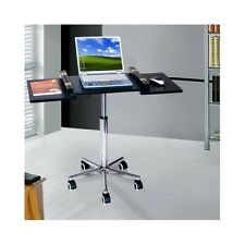 Portable Computer Desk Mobile Laptop Cart Office Work Station Table Stand