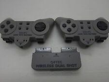 playstation Controllers wireless OPTEC set Untested as is Japan PS1 PS2