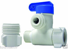 "John Guest 1/4"" Plastic(lead Free)Angle Stop adapter valve for RO or ice maker"