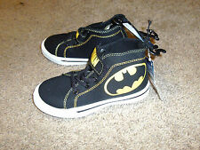 Batman Boys Toddler Vintage Black & Yellow High Top Shoes Size 7
