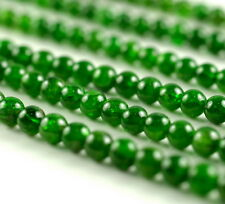 """6MM CHROME DIOPSIDE GEMSTONE GRADE AA GREEN ROUND LOOSE BEADS 7.5"""""""