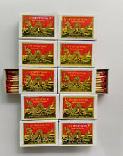 10 Boxes = 400 Red Sticks Wooden Matches Phrayanak Camping Fire Starter Lighter