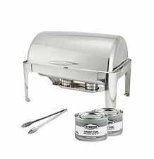 Winco Full Size Roll Top Chafer, Chafing Dish Set