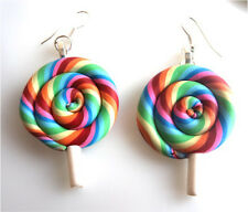 HANDMADE LUXURY COLOURFUL LOLLIPOP EARRINGS STUNNING + FREE GIFT BAG + FAST P&P