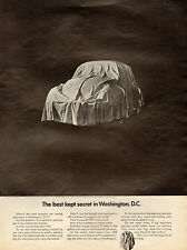 1968 Classic Car AD VW Beatle BUG Volkswagen auto Under Wraps Clever Ad 111014
