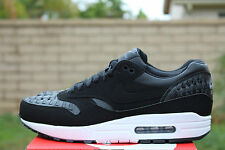 NIKE AIR MAX 1 WOVEN SZ 9.5 BLACK DARK GREY AM1 RUNNING 725232 001