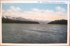 Montana Postcard FLATHEAD LAKE AT THE NARROWS Mission Range Robbins-Tillquist