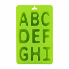Alphabet Silicone Ice Tray Cube Cookie Chocolate Butter Mold Green