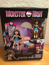 2015 Mega Bloks 87 Pcs Cleo de Nile Gore-geous Vanity Playset Monster High New