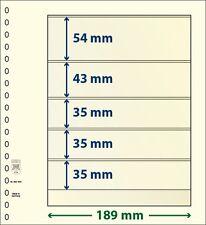 Lindner T-Blanko-Blätter mit fünf Taschen im 10er Pack  Art.-Nr. 802 503