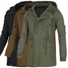 Mens Fashion Military Jacket Casual Designer Outwear Slim Fit Coat Overcoat S-XL