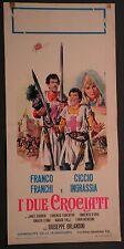 Locandina I DUE CROCIATI 1°ED.ITAL.1968 FRANCO FRANCHI CICCIO INGRASSIA