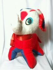 Vintage Antique Carnival Stuffed Red White &  Blue Elephant