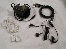 Cell Phone Accessories Earbuds, Charger, USB Charger Lot of 4