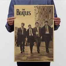 The Beatles Poster Vintage Wall Chart Home Bar Decor Kraft Paper Retro Poster