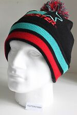 AUTHENTIC STARTER BLACK/GREEN/RED BOBBLE BEANIE HAT BNWT