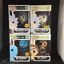 Funko POP! Rick And Morty: Meeseeks Chase, Rick Chase, Portal Gun & Evil Morty