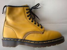 DOC DR MARTENS YELLOW BOOTS RARE VINTAGE MADE IN ENGLAND UNISEX 8UK US:W10 M9