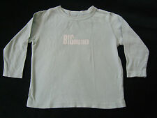 "No Added Sugar • Jungen T-Shirt Hemd Pulli • ""Big Brother"" • 2 -3 J. • Gr. 86-92"