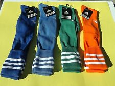 NWT 4 Prs Men's ADIDAS Over The Calf Soccer Socks Large Shoe 9-13 Multi Col