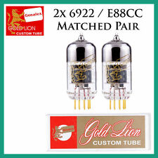 New 2x Genalex Gold Lion 6922 / E88CC / 6DJ8 | Matched Pair / Duet / Two Tubes