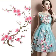 Chic Plum Blossom Lace Embroidered Patches Clothes Motif Cord Venise Applique