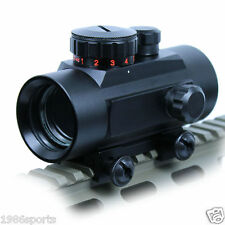 Scopes 1x30 Red Green Dot Pointer Hunting Illuminated Sight 20mm & 11mm Rail